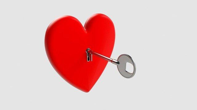 Srdce, kľúč