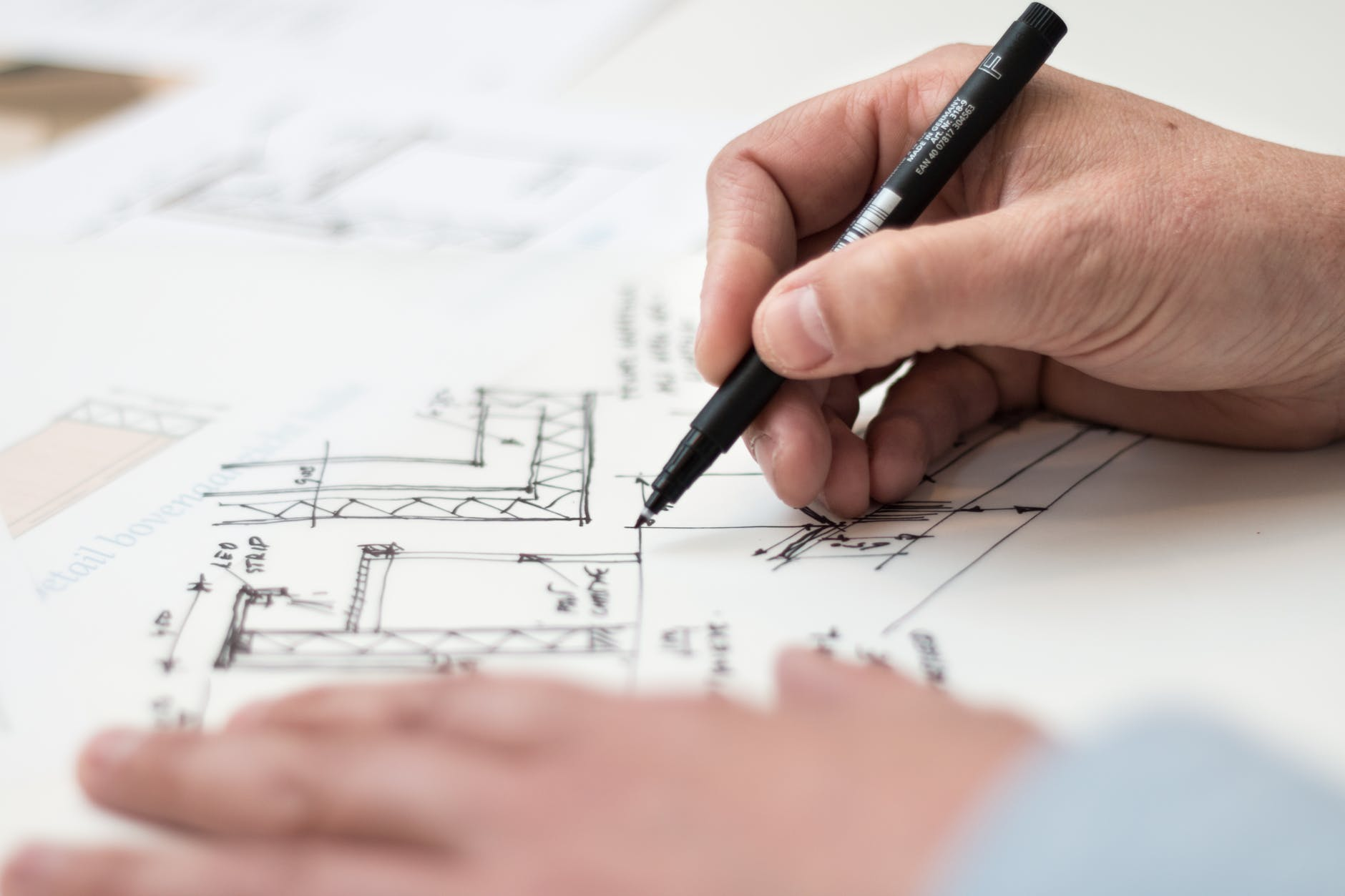 plán, architekt